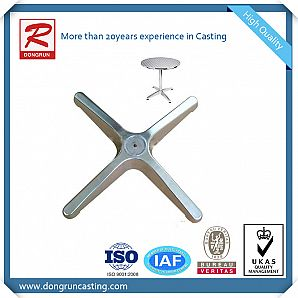 Cast Aluminum Table Base with High Polishing Surface